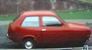 Red Reliant a picture of our fun car