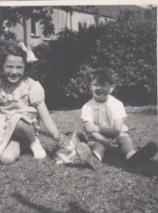 My younger brother martin and me with our cat