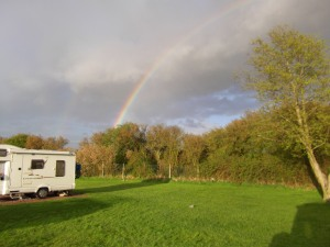 The start of a rainbow at St Neots
