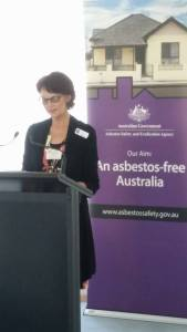 Listening to international anti-asbestos advocate Lou Williams at the Parliamentary Group on Asbestos Related Disease.
