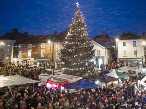 Caistor Christmas Tree lights 2015